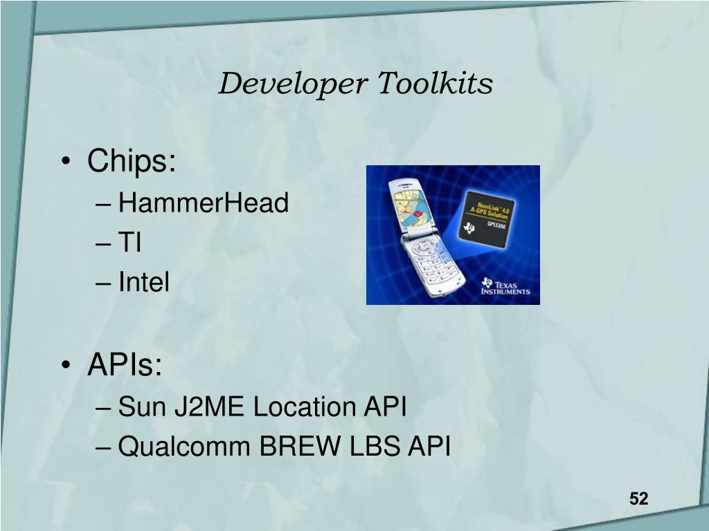 Developer Toolkits