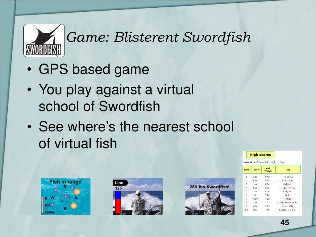Game: Blisterent Swordfish