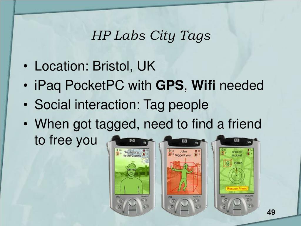 HP Labs City Tags