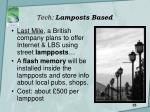 tech lamposts based
