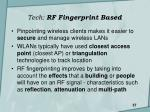 tech rf fingerprint based