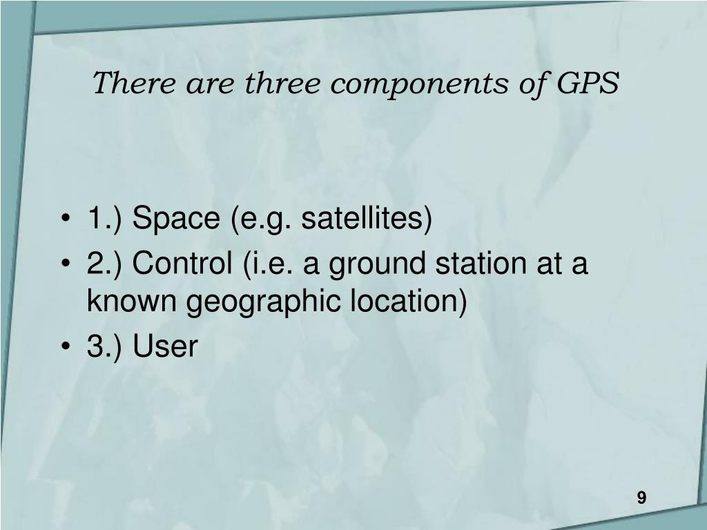There are three components of GPS