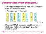 communication power model cont