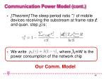 communication power model cont10