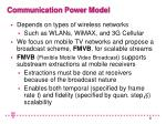 communication power model