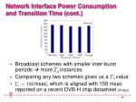 network interface power consumption and transition time cont27