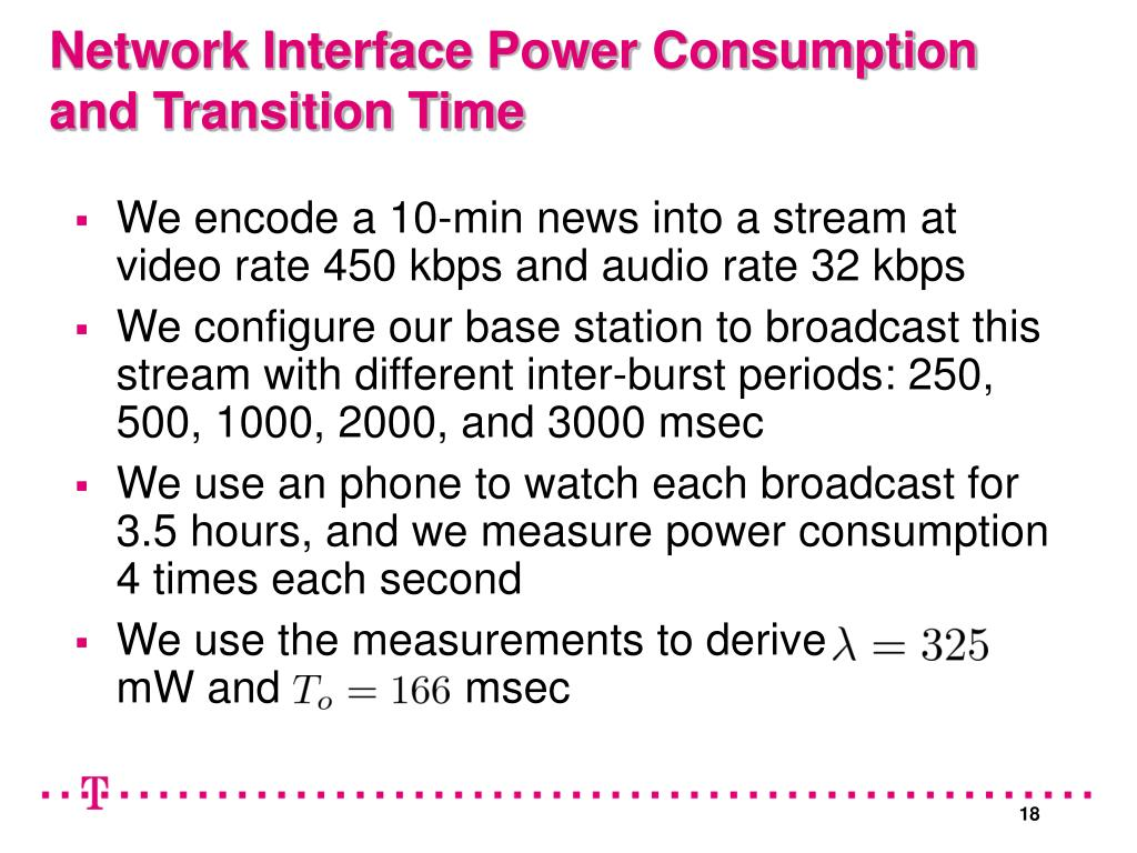 We encode a 10-min news into a stream at video rate 450 kbps and audio rate 32 kbps