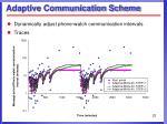 adaptive communication scheme