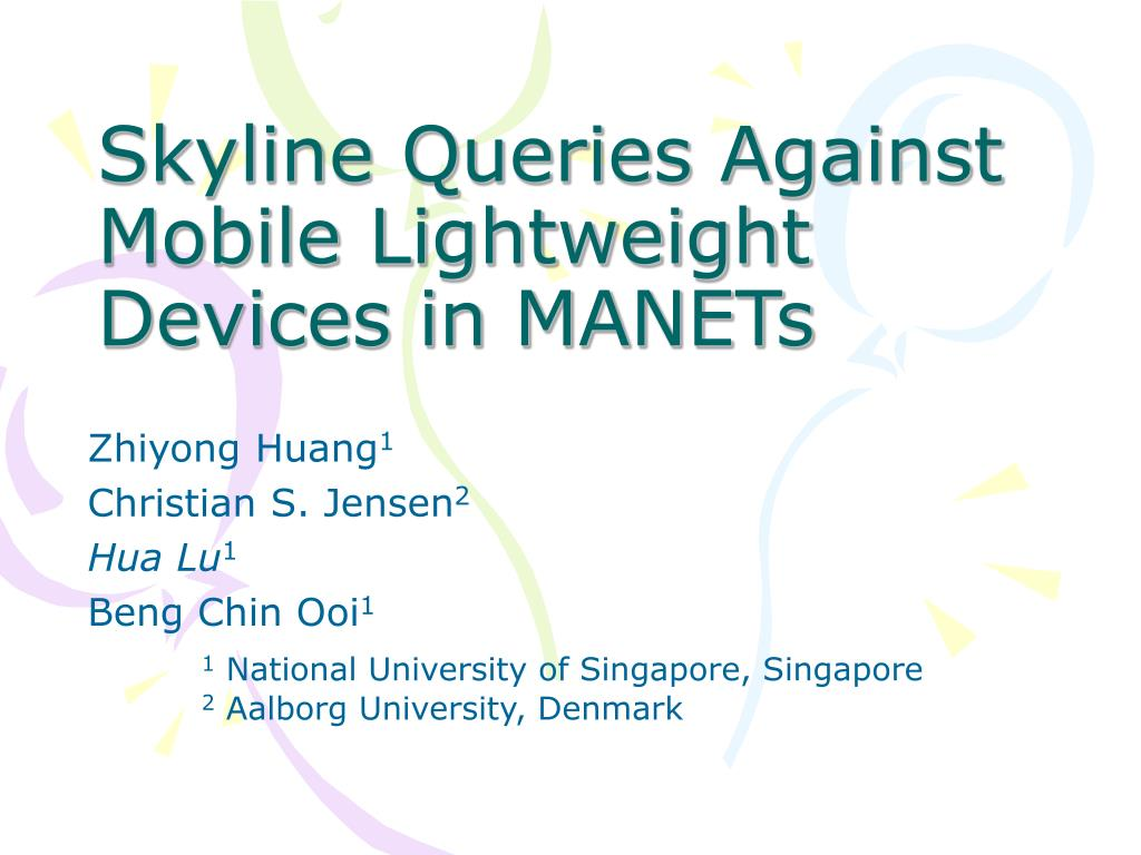 skyline queries against mobile lightweight devices in manets l.