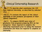 clinical internship research