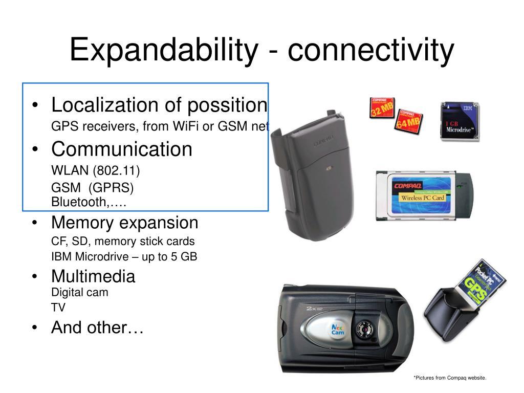 Expandability - connectivity