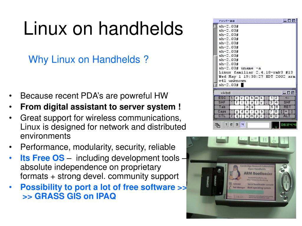 Linux on handhelds