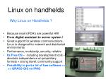 linux on handhelds