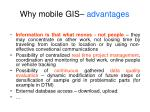 why mobile gis advantages