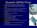 bluetooth wpan primer