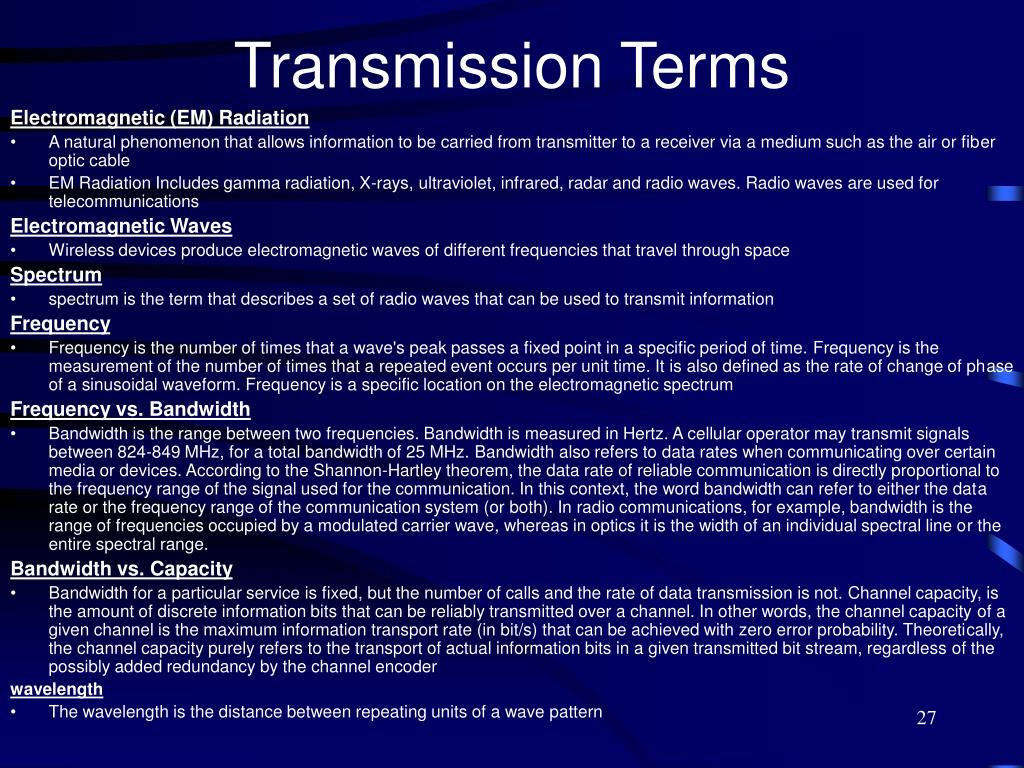 Transmission Terms