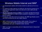 wireless mobile internet and wap