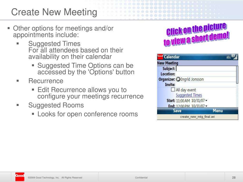 Create New Meeting