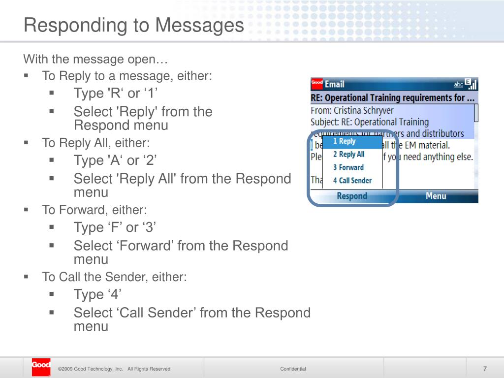 Responding to Messages
