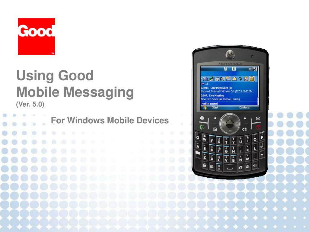using good mobile messaging ver 5 0 l.