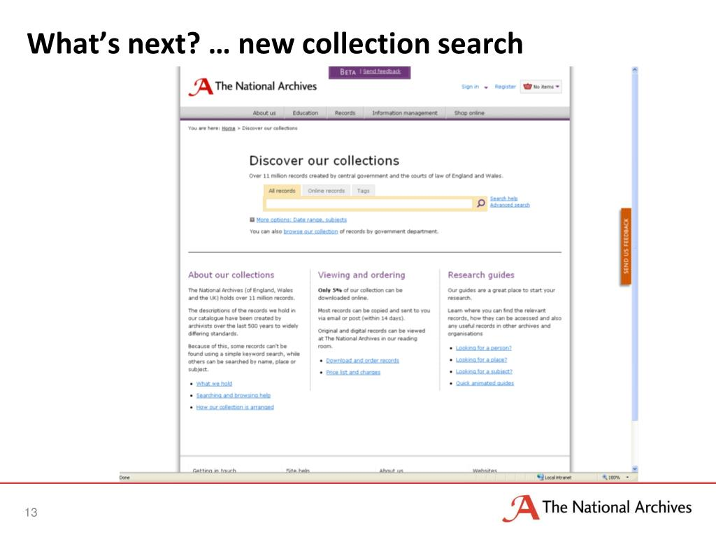 What's next? … new collection search