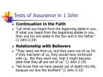 tests of assurance in 1 john32