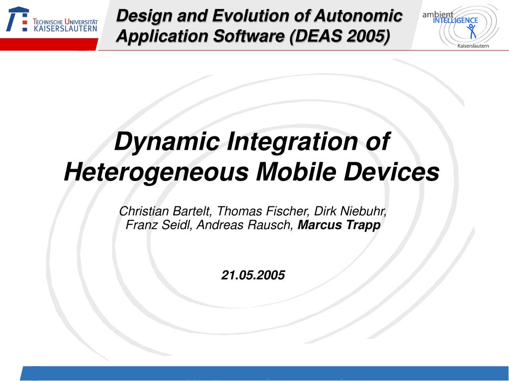 Design and Evolution of Autonomic Application Software (DEAS 2005)