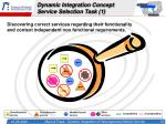 dynamic integration concept service selection task 1