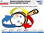 dynamic integration concept service selection task 2