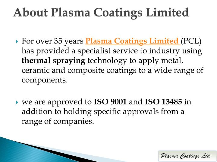 About plasma coatings limited