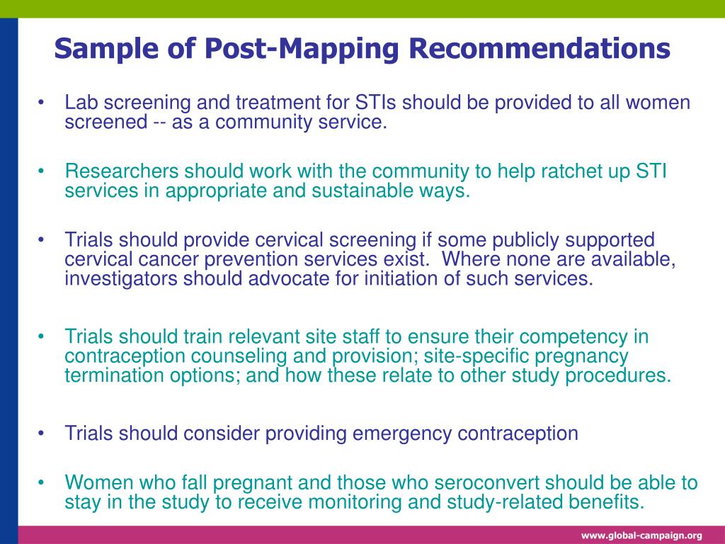 Sample of Post-Mapping Recommendations