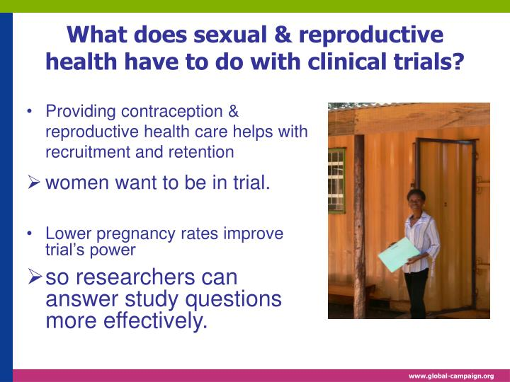 What does sexual reproductive health have to do with clinical trials