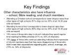 key findings11