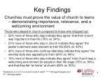 key findings9