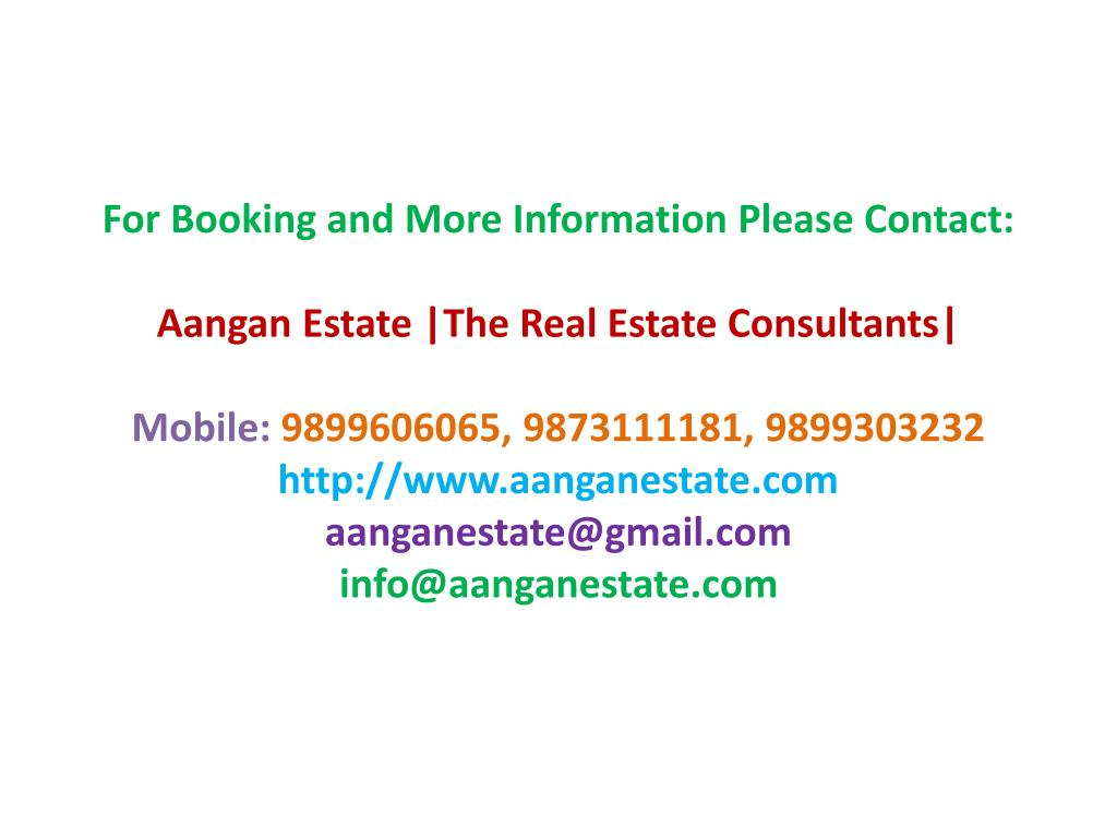 For Booking and More Information Please Contact: