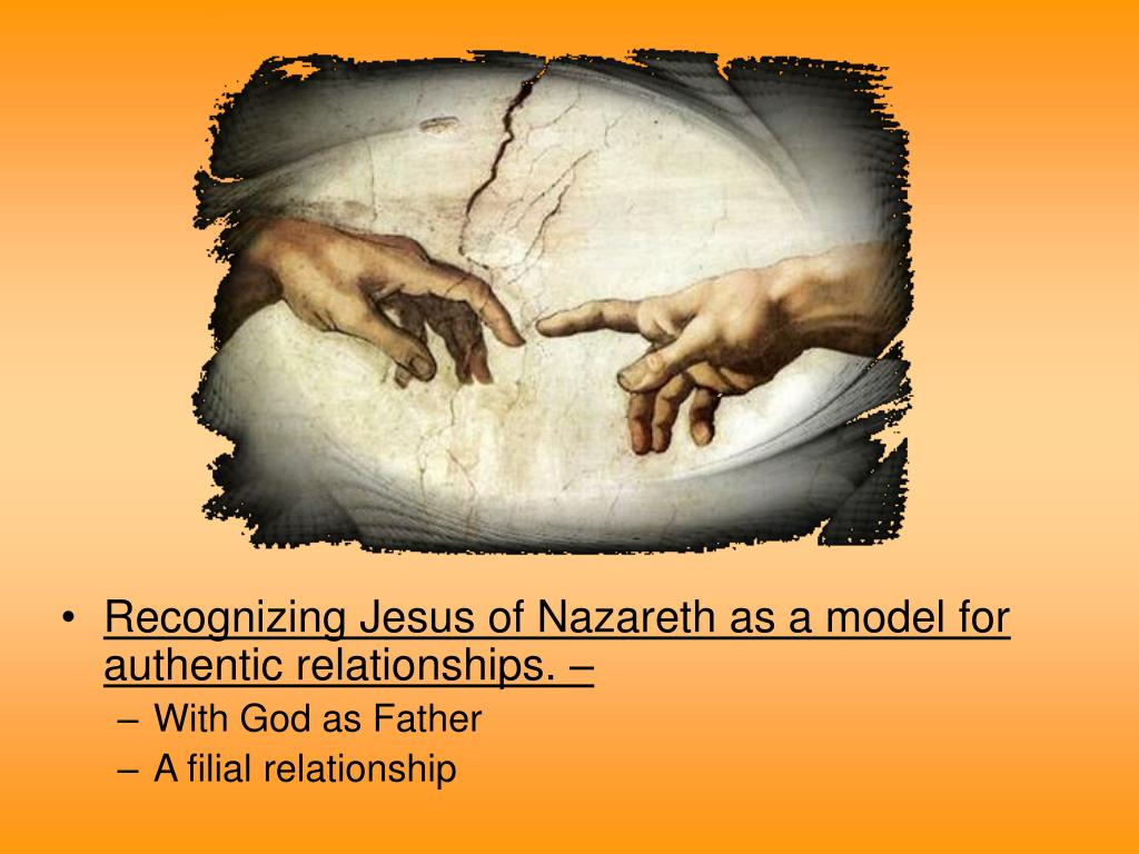 Recognizing Jesus of Nazareth as a model for authentic relationships. –