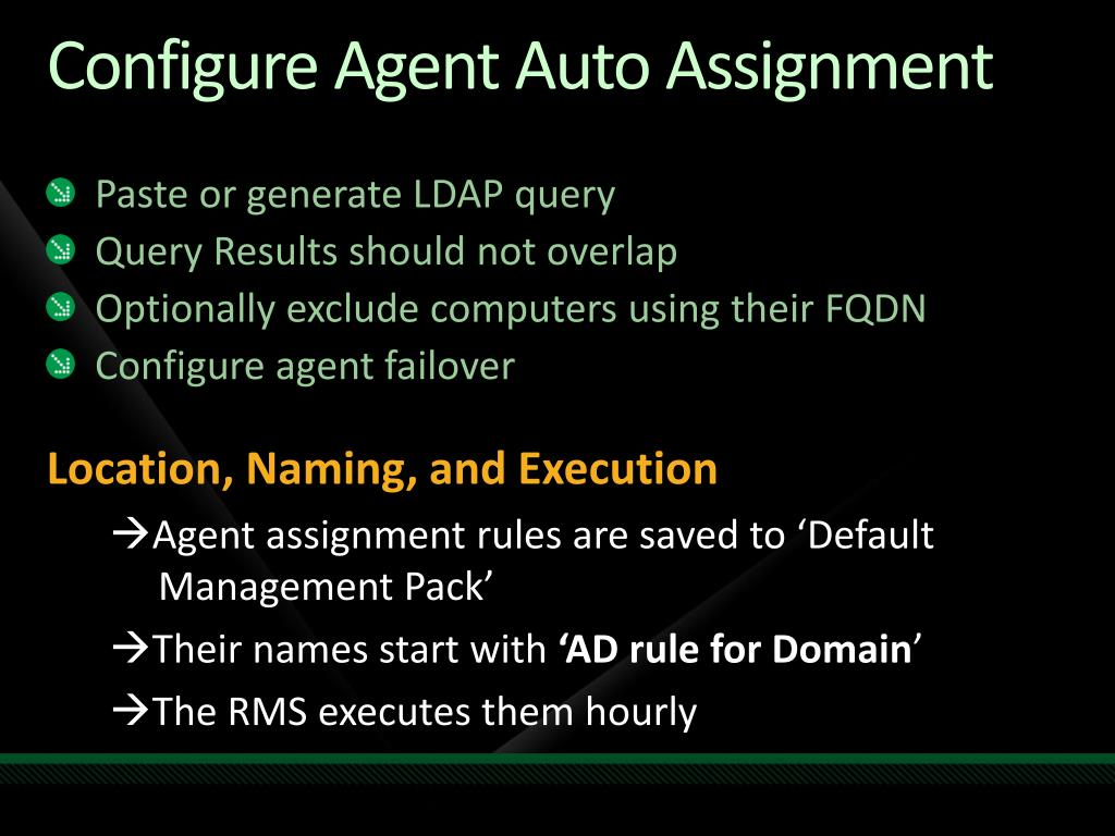 Configure Agent Auto Assignment