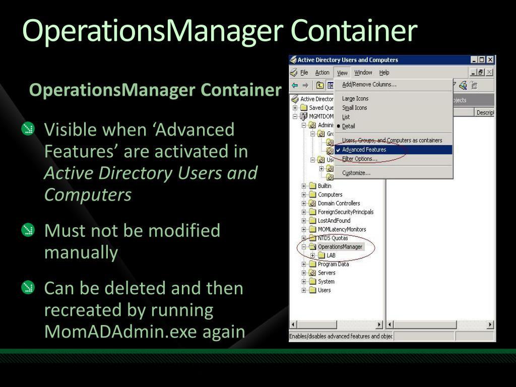 OperationsManager Container