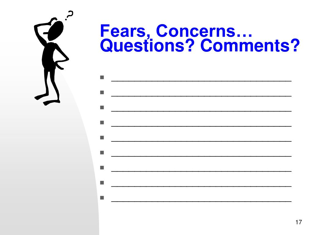 Fears, Concerns…