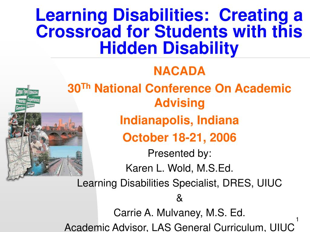 learning disabilities creating a crossroad for students with this hidden disability l.
