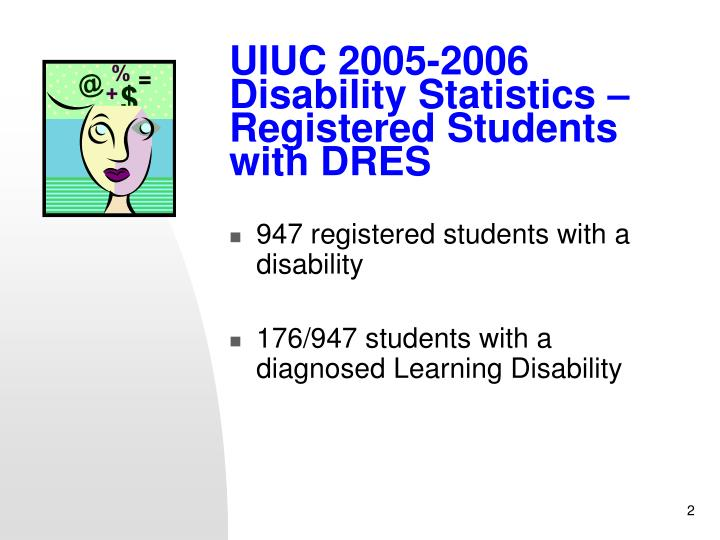 Uiuc 2005 2006 disability statistics registered students with dres