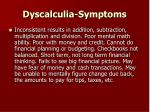 dyscalculia symptoms33