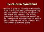 dyscalculia symptoms35