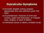 dyscalculia symptoms42