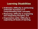 learning disabilities22