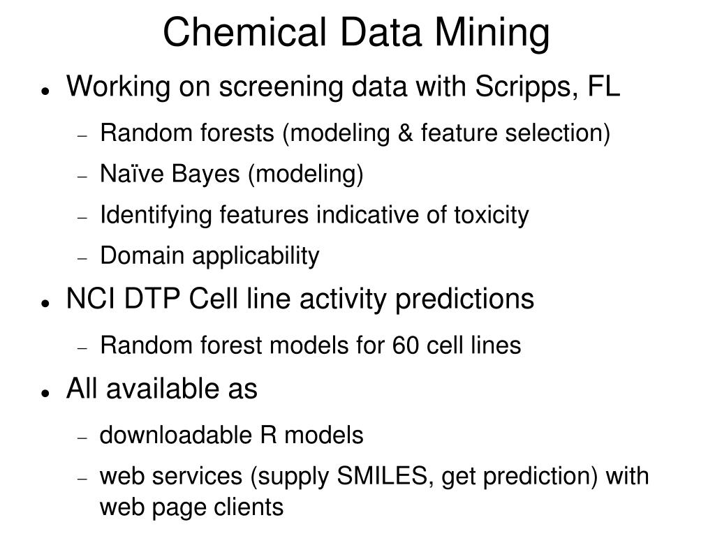 Chemical Data Mining