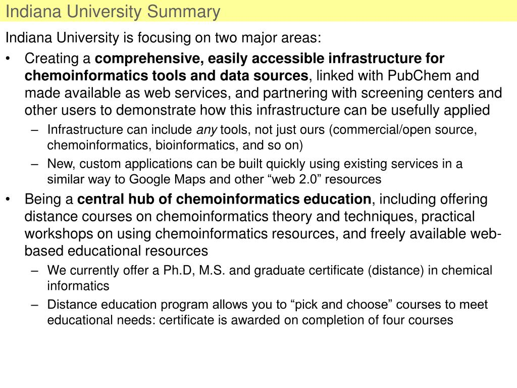 Indiana University Summary