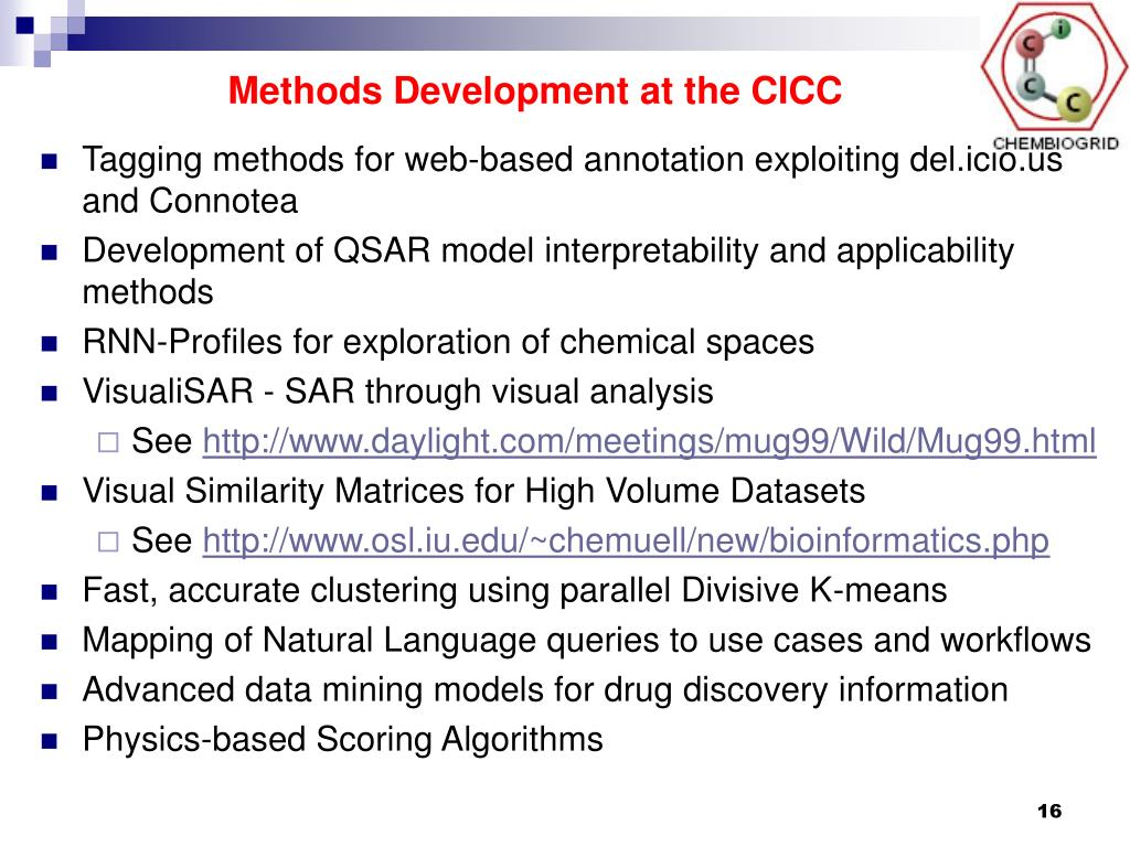 Methods Development at the CICC