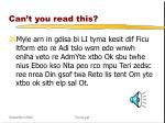 can t you read this