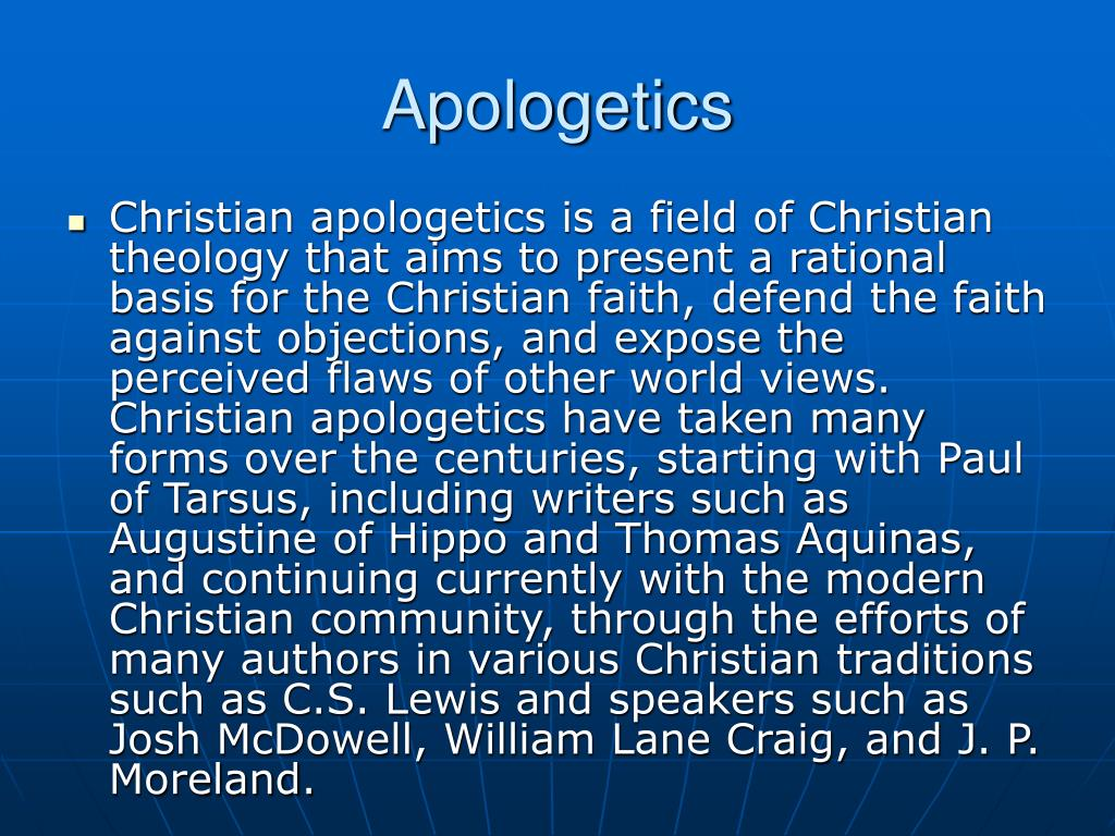 Apologetics